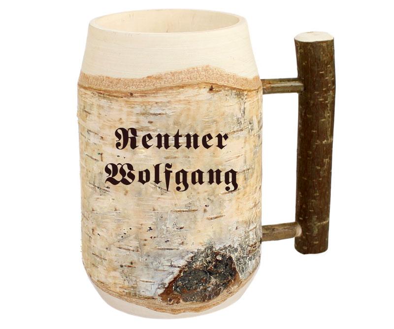 Bierkrug originelles Geschenk zur Rente