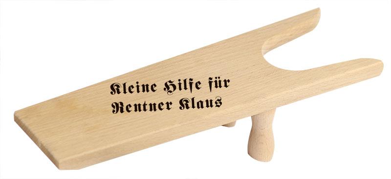 Geschenk zum Ruhestand - Stiefelknecht