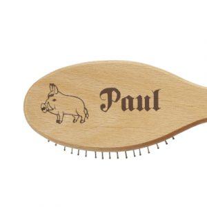 Kinderbürste mit Wildschwein und Name Paul