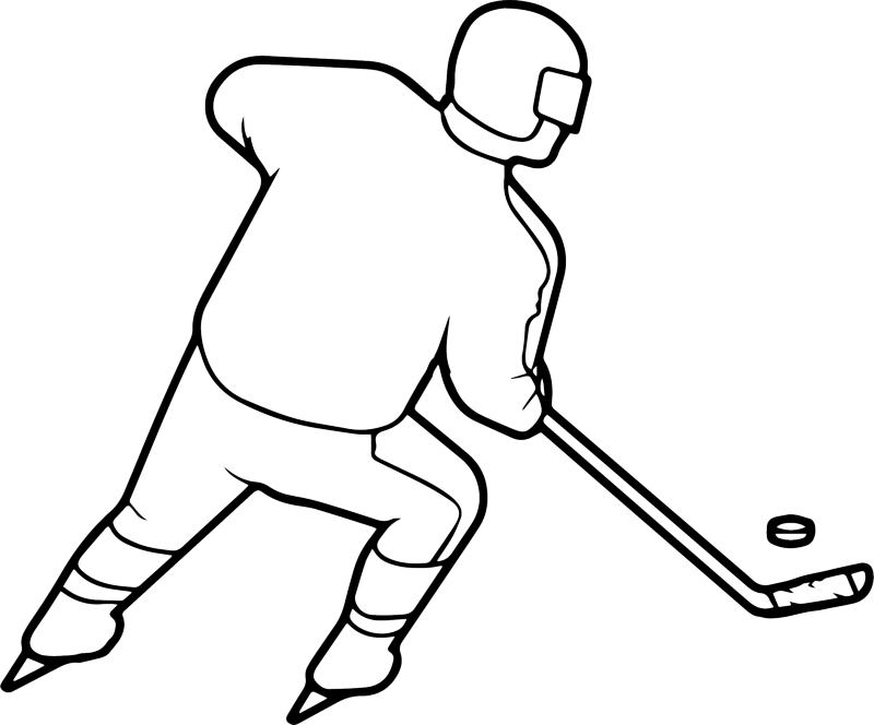 Wintersport Ausmalbilder Eishockey