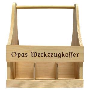 Flaschenträger - Beispiel Opas Werkzeugkoffer
