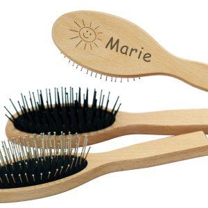 Haarbürste Holz personalisiert