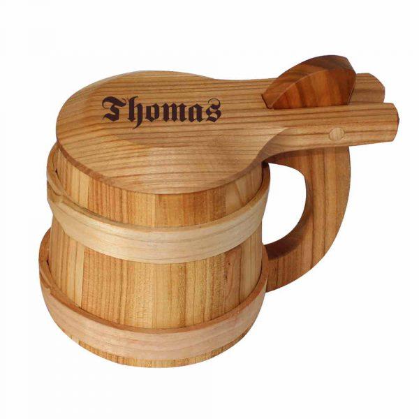 Holzbierkrug-mit-Deckel