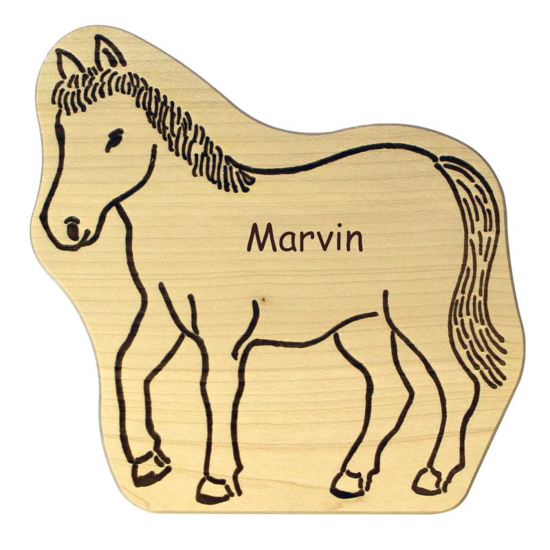 Pferdegeschenk aus Holz