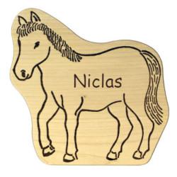 Kinder Brettchen - Pferdefan