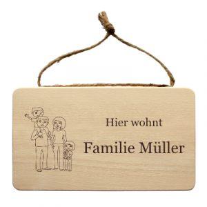 Individuelles-Familienschild-Gravur-Familie