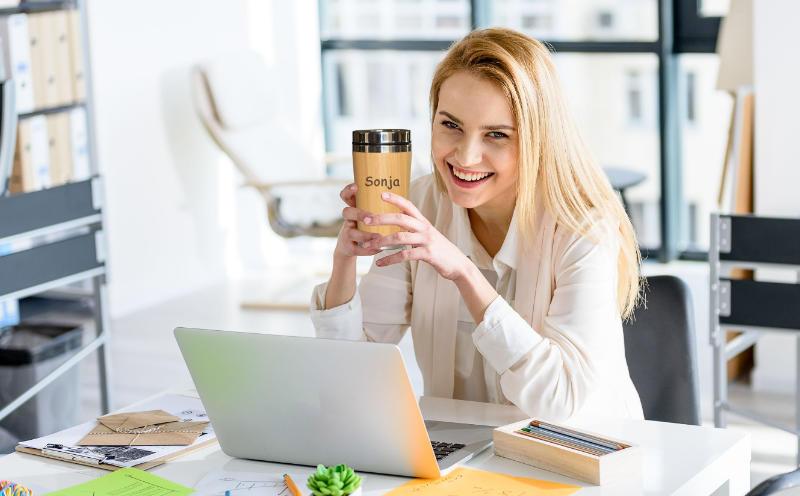 Personalisierter Kaffeebecher to go mit Namen