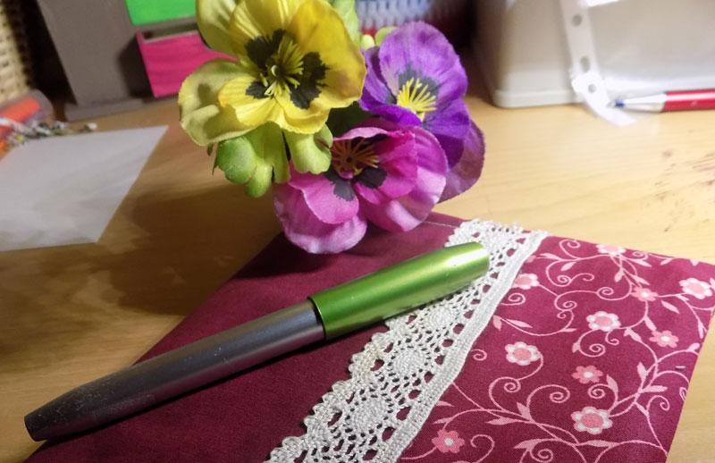 Tagebuch Umschlag selber nähen