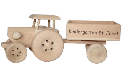 Schlepper aus Holz Kindergeschenk