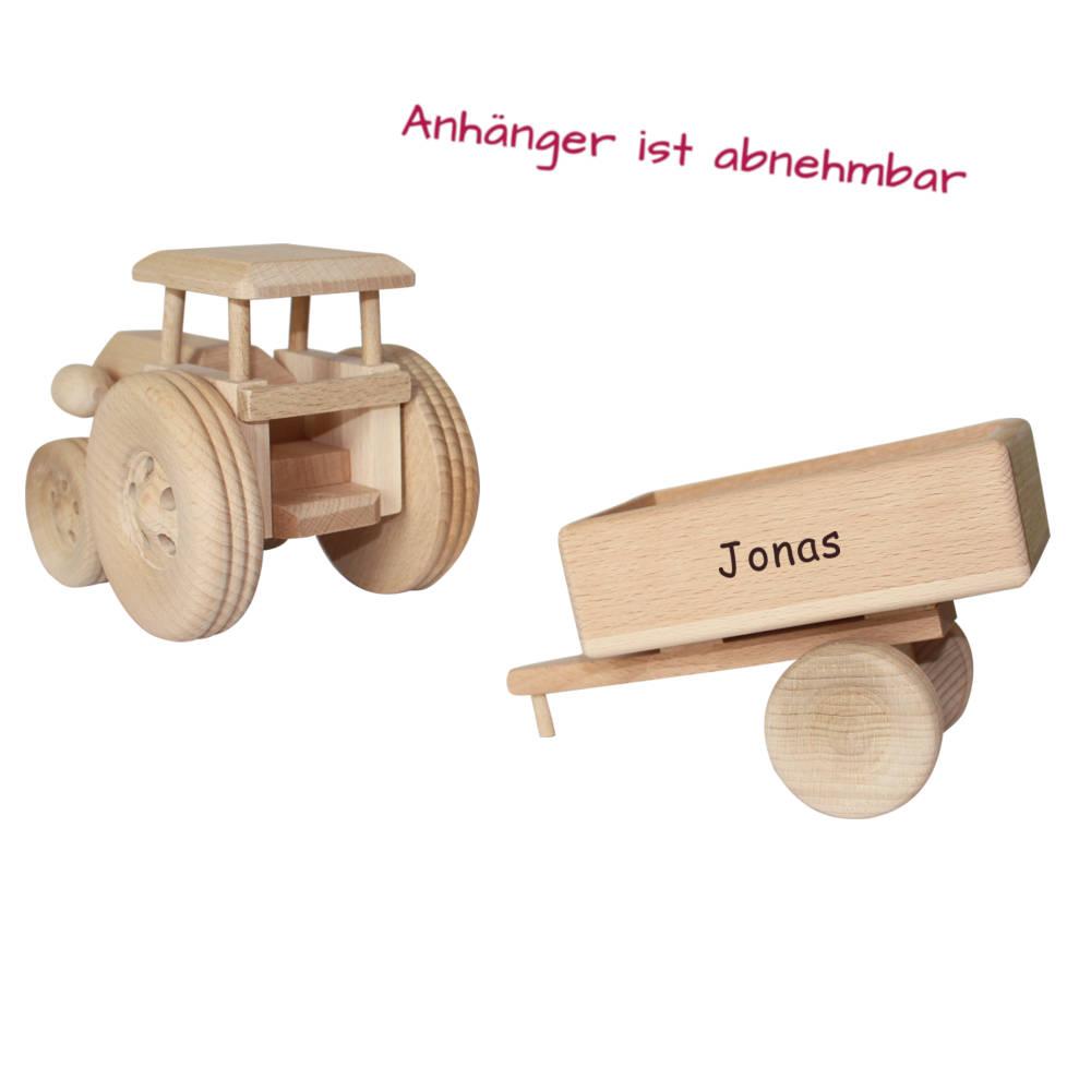 Holztrecker Anhaenger Kind