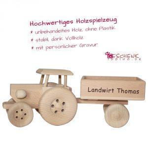 Holztraktor Kinder