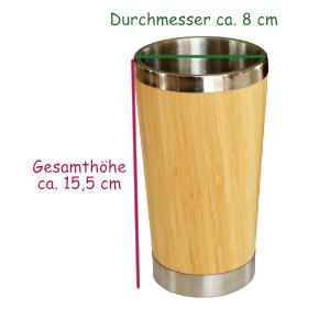 Edelstahl Trinkbecher 0,4 l