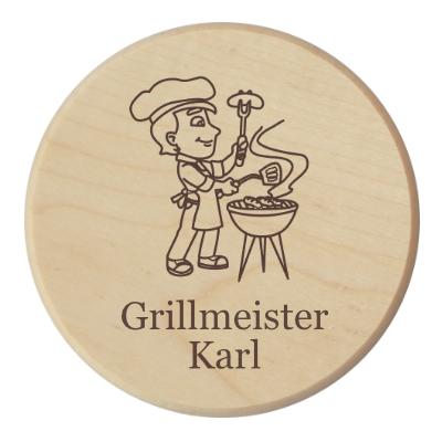 Glasuntersetzer Grillfeier
